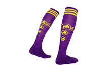 Local Classic  Chaussettes Freeride Knee jaune/violet